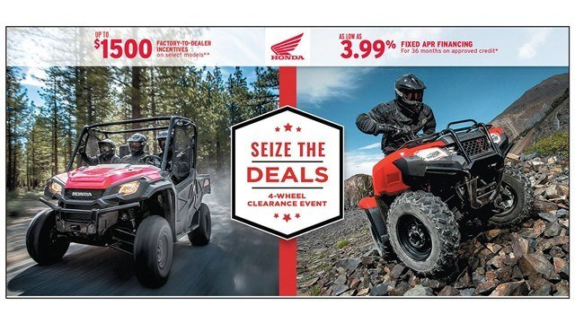 Honda Seize the Deals Event - SxS - 3.99% Fixed APR
